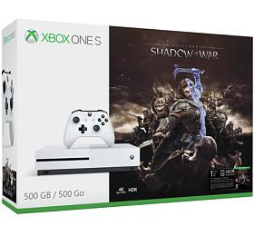 XBOX ONE S - 500GB + Shadow of War