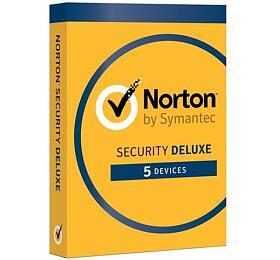 NORTON SECURITY DELUXE CZ1 uživatel na5 zařízení na2 roky ESD