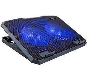 """C-TECH CLP-140, 15,6"""", 2x 140mm, 2x USB, modré podsvícení"""