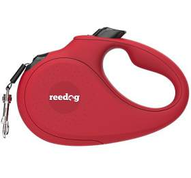 Reedog Senza Basic samonavíjecí vodítko M 25kg / 5m páska / červené