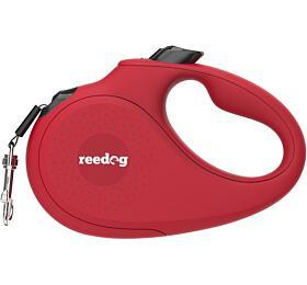 Reedog Senza Basic samonavíjecí vodítko L50kg /5m páska /červené