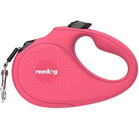 Reedog Senza Basic samonavíjecí vodítko L50kg /5m páska /růžové