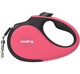 Reedog Senza Premium samonavíjecí vodítko M25kg /5m páska /růžové