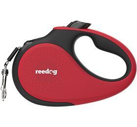 Reedog Senza Premium samonavíjecí vodítko M25kg /5m páska /červené