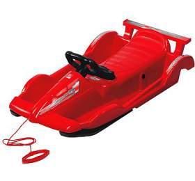 Bob plastový AlpenRace s volantem AlpenGaudi, červený