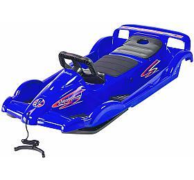 Bob plastový AlpenDoubleRace s volantem AlpenGaudi, modrý