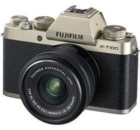 Fujifilm X-T100 + XC15-45 - 24,3MP - Champagne gold
