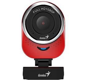 GENIUS webová kamera QCam 6000/ červená/ Full HD1080P/ USB2.0/ mikrofon