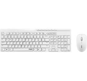 RAPOO bezdrátový set X8100/ 2,4GHz/ nízký zdvih/ USB/ bílá/ CZ+SK layout