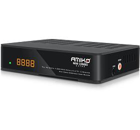 AMIKO DVB-S2/T2/C přijímač Mini HDCOMBO EXTRA, CXPVR LAN, H.265