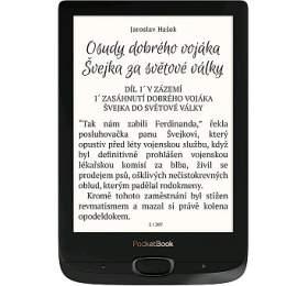 """POCKETBOOK e-book reader 616 Basic Lux 2/ 8GB/ 6""""/ Wi-Fi/ micro SD/ micro USB/ čeština/ černá"""