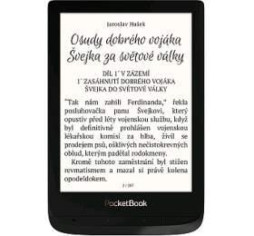 """POCKETBOOK e-book reader 627 Touch Lux 4/ 8GB/ 6""""/ Wi-Fi/ micro SD/ micro USB/ čeština/ černá"""