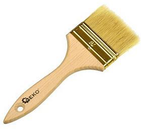 Štětec plochý, 76mm, dřevěná rukojeť GEKO