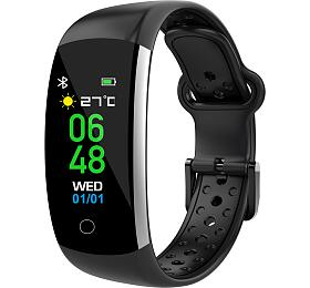 iGET FIT F2 Black - chytrý náramek, IP68, Multisport, LCD, 90mAh, Find Watch