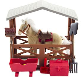 Kůň fliška sestájí adoplňky plast vkrabici 23x27x9cm