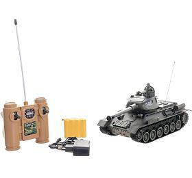 Tank RCplast 33cm T-34/85 27MHz nabaterie+dobíjecí pack sezvukem asvětlem vkrabici 40x15x19cm