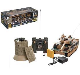 Tank RCTIGER Iplast 33cm+bunkr nabaterie+dobíjecí pack sezvukem asvětlem vkrabici 51x17x19cm