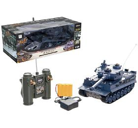 Tank RCplast 33cm TIGER I27MHz nabaterie+dobíjecí pack sezvukem asvětlem vkrabici 40x15x19cm