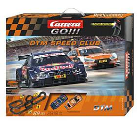 """Autodráha Carrera GO!!! 62448 """"DTM Speed Club"""" 8,9m v krabici 60x50x11cm"""