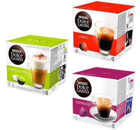 SET kapslí NESCAFÉ Dolce Gusto Cappuccino + Lungo + Espresso