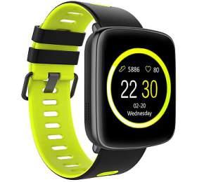 """IMMAX chytré hodinky SW9/ 1.54"""" TFT LCD/ MTK2502C/ BT/ IP68/ kompatibilní s Android 2.3 / iOS 4.0 a vyšší/ černo-zelené"""