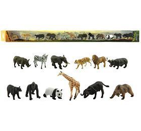 Zvířátka safari ZOO plast 6cm 12ks vtubě 7x78x4cm