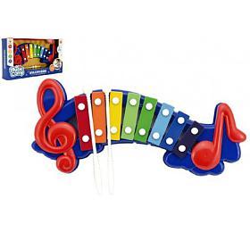 Xylofon plast/kov 32cm vkrabici 37x20x6cm
