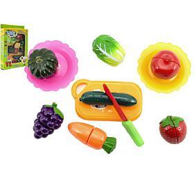 Ovoce azelenina krájecí snáčiním plast 18ks vkrabici 21x30 cm