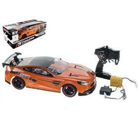 Auto RCoranžové zrychlující plast 40cm 27MHz nabaterie +dobíjecí pack vkrabici 56x20x24cm