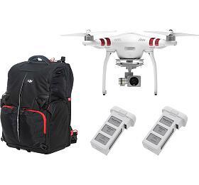 DJI kvadrokoptéra -dron, Phantom 3Standard, 2baterie navíc, DJI batoh pro Phantom 3a 4