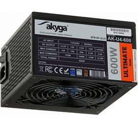 Akyga PCzdroj 600W Ultimate Series modulární 80+ Bronze 120mm ventilátor