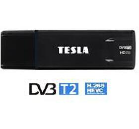 TESLA DVB-T/T2 tuner Proxy T2/ H.265/HEVC/ Full HD/ externí/ EPG/ čestina/ TimeShift/ externí anténa/ USB/ černý