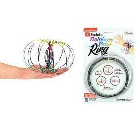 Flow Ring kovová barevná spirála průměr 13cm nakartě 16x24cm