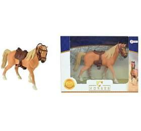 Kůň sesedlem plast 14cm vkrabičce 19x14x5cm