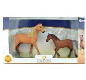 Sada koně 2ks plast vkrabici 44x26x7cm