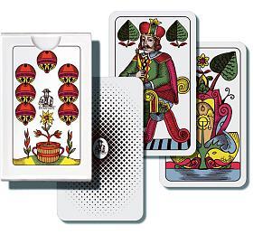 Mariáš jednohlavý společenská hra karty vpapírové krabičce 6,5x10x1cm