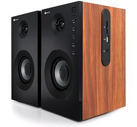 C-TECH SPK-550BT, 2.0, Bluetooth, dálkové ovládání, dřevěné