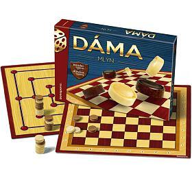 Dáma +mlýn společenská hra vkrabici 33x23x4cm