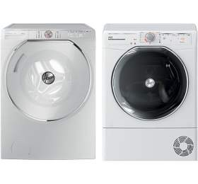 Hoover AXI AWMPD410LHO8-S + Sušička prádla Hoover AXI ATD HY10A2TKEX-S