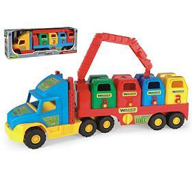 Auto/Návěs Super Truck popelář s rukou plast 75cm v krabici Wader