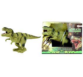 Dinosaurus chodící plast 22cm nabaterie asst 2barvy vkrabici