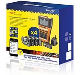 Brother PT-E550WSP tisk. samolep. štítků s WiFi, pro pásky 6-24 mm + kufr + 4 pásky