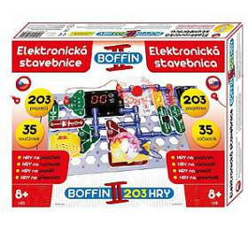Stavebnice Boffin II. 203 elektronická 203 projektů nabaterie 35ks vkrabici 40x30x7cm