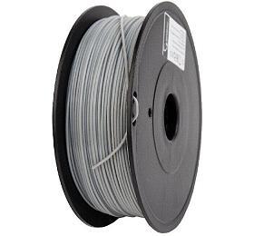 Tisková struna GEMBIRD, PLA PLUS, 1,75mm, 1kg, šedá