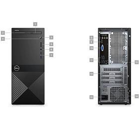 DELL Vostro 3670 MT/i5-8400/8GB/128GB SSD + 1TB/Intel UHD/DVD-RW/WiFi/BT/Win10 Pro 64bit
