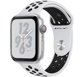 AppleWatch Nike+ Series4 GPS, 44mm Silver Aluminium Case with Pure Platinum/Black Nike Sport Band