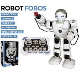 Robot RCFOBOS interaktivní chodící plast 40cm nabaterie sUSB vkrabici 31x44x13cm CZdesign