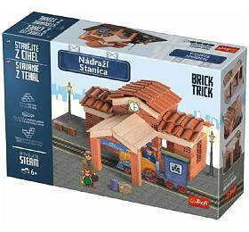 Stavějte zcihel Nádraží stavebnice Brick Trick vkrabici 40x27x9cm