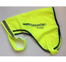 PlaqueOff reflexní vesta pro psy, žlutá, velikost M