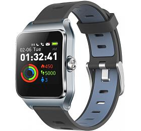 "UMAX chytré hodinky U-Band P1PRO/ 1,3"" IPS/ Bluetooth 4.2/ MTK2511/ GPS/ ATM50/ iOS 8.0 +/Android 4.3 +/šedo-stříbrné"